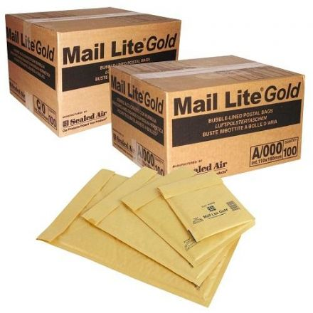Bubble Lined Bags - Mail-Lite Gold<br>Size: C0 (150x210mm)<br>Pack of 100